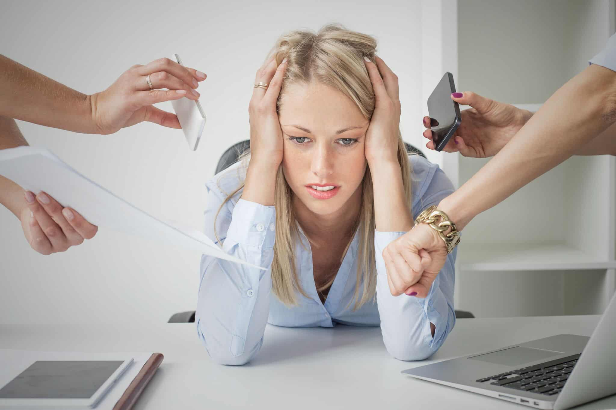 It's hard to handle stress after a divorce.